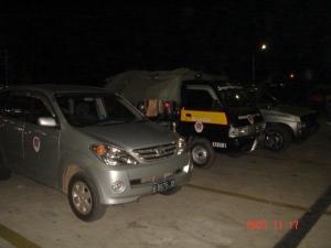 Mobil yang membawa Personil & Sepeda Contry