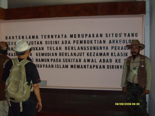 Maklumat dipintu masuk Museum Sejarah Banten Lama