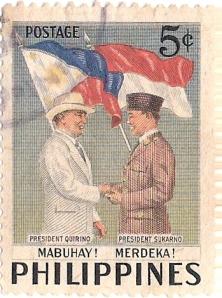 Gambar Perangko Negara tetangga yang ada gambar Soekarno: